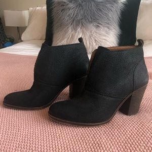 Lucky Brand Black Booties, Size 9.5